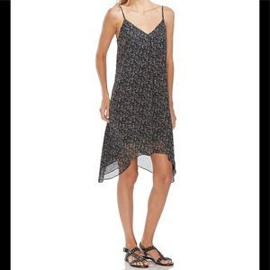 Vince Camuto Sleeveless Floral Print Dress Black